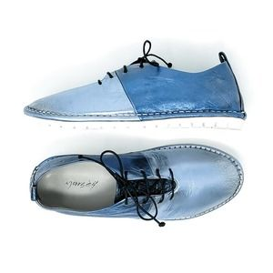 Marsell Sancrispa Metallic Blue Lace Up Shoe 36.5